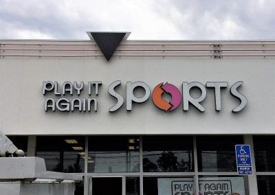 Lighted Signs for Retail Stores for Play It Again Sports in Los Angeles, CA