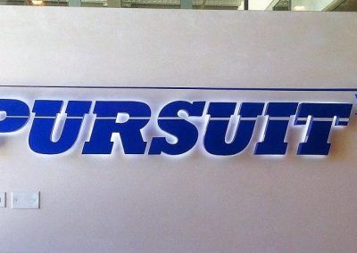 Reverse-lit Electrical Sign for Pursuit Productions in Santa Monica, CA