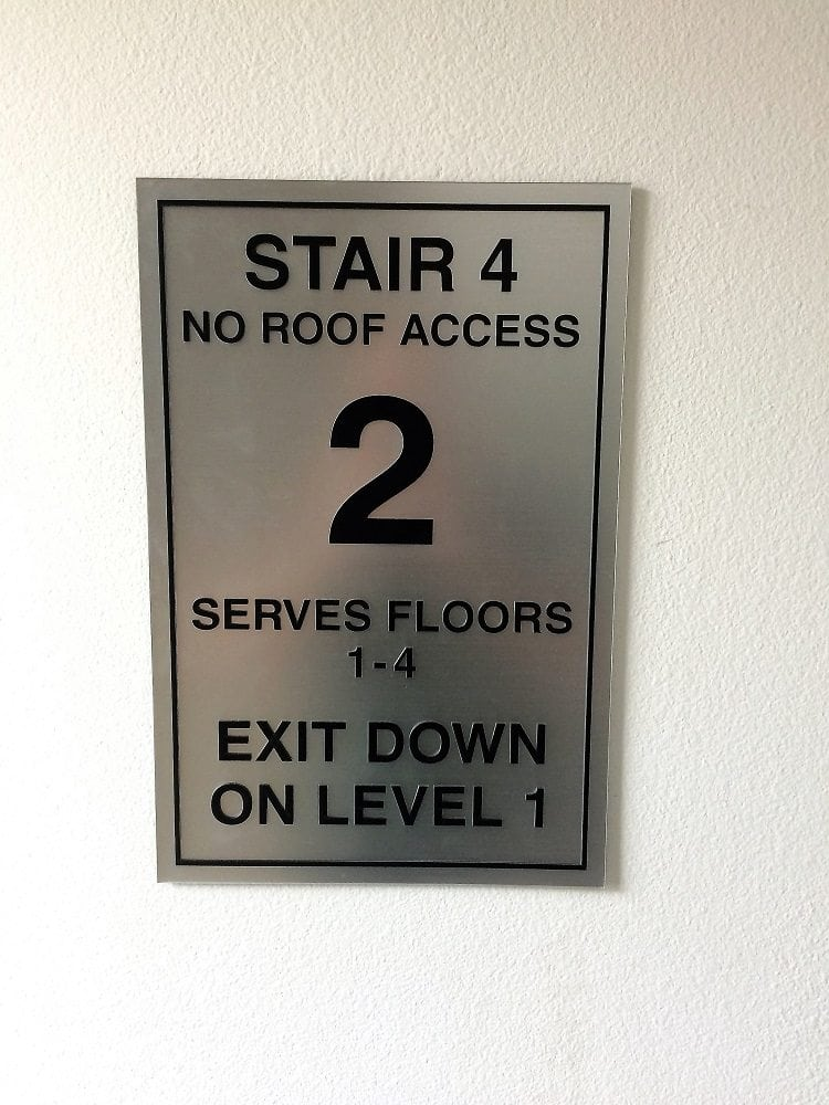 Stairway Identification Signs Wayfinding Sign Address Number Apartment Building Signage Room