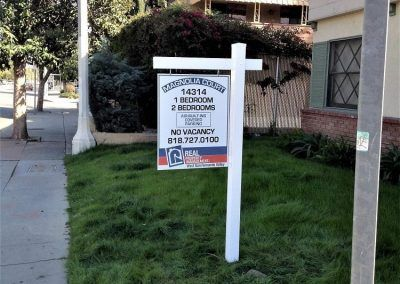 Double-sided Post and Panel Sign for Real Property Management in San Fernando Valley, CA
