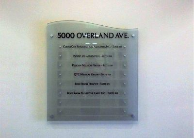 Indoor Directional Sign for Office Building in Los Angeles, CA
