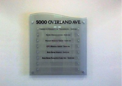 Suite Directory Sign for Hospice in Culver City, CA