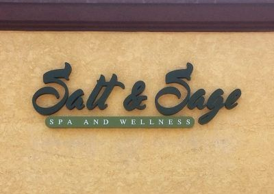 Metal Channel Letter Sign for Salt & Sage Spa in Simi Valley, CA