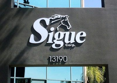 Dimensional Letter Sign for Sigue in Sylmar, CA