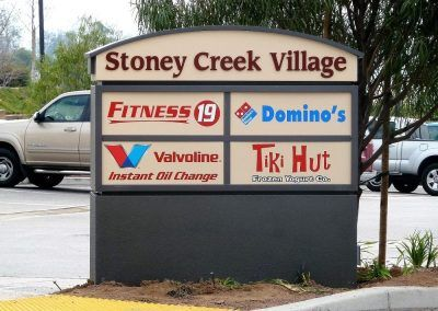 Commercial Monument Sign for Shopping Center in Canoga Park, CA