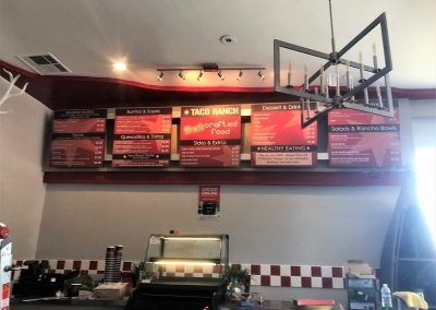 Custom Menu Boards for Mexican Restaurant in Shadow Hills, CA
