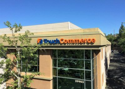 Exterior Building Sign Letters for TouchCommerce in Agoura Hills, CA