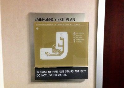 Emergency Exit Plan Sign for Contractor in Long Beach, CA