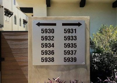 Multi Directional Sign for Apartment Complex in Los Angeles, CA