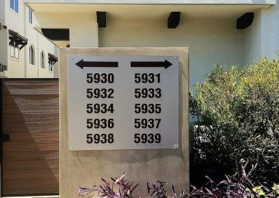 Apartment Directional Signs for Apartment Complex in Los Angeles, CA