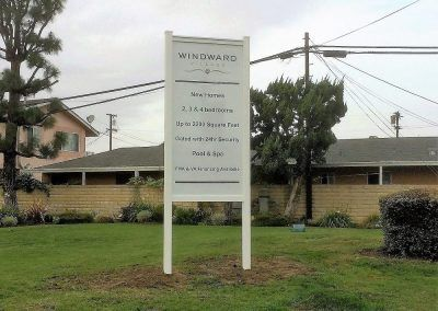 Tall Post & Panel Sign for Winward Village in Los Angeles, CA