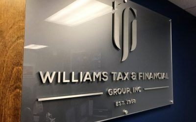 Custom Logo Sign for a Tax Service Office & Financial Group in Los Angeles, CA