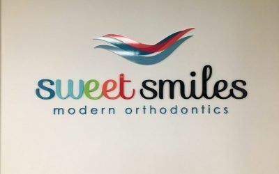 Office Logo Sign for Sweet Smiles in Garden Grove, CA