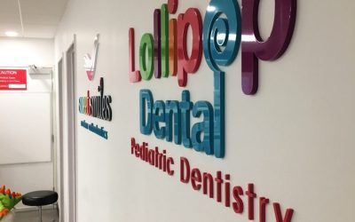 Custom Lobby Sign for Dentist's Office in Garden Grove, CA