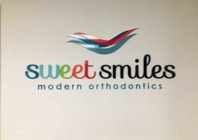 Medical Office Signage for Sweet Smiles Modern Orthodontics in Garden Grove, CA