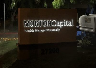 Lighted Logo Signs for Financial Planner in Calabasas, CA