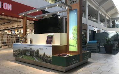 Mall Cart Wrap for Forest Lawn at The Shops at Montebello, CA