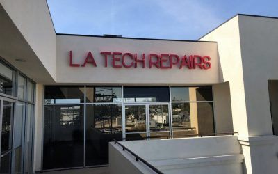 Custom Reverse-lit Channel Letters for Electronics Repair Shop in Walnut, CA