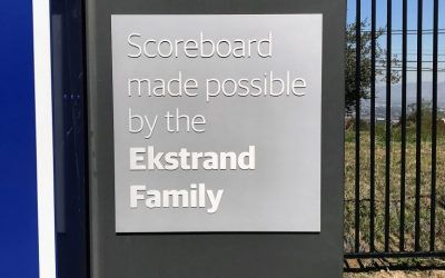 Aluminum Plaques with Raised Lettering for Charter School in Bel-Air, CA