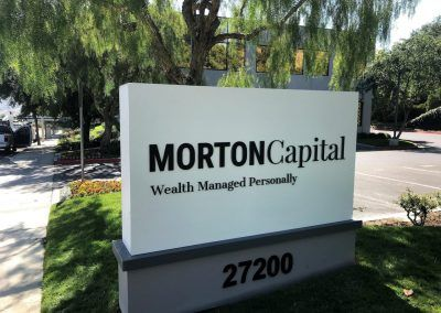 Lighted Commercial Sign for Morton Capital in Calabasas, CA