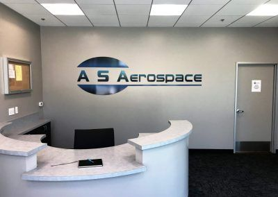 Lobby Logo Sign for AS Aerospace in Santa Clarita, CA