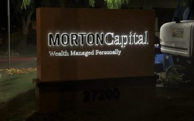 Logo Update on Monument Sign for Financial Planner in Calabasas, CA