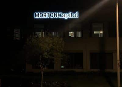 Lighted Building Sign for Morton Capital in Calabasas CA