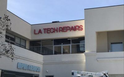 Advertising New Storefront with Signage for Electronics Repair Shop in Walnut, CA