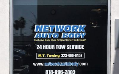 Window Vinyl for Network Auto Body in Glendale, CA