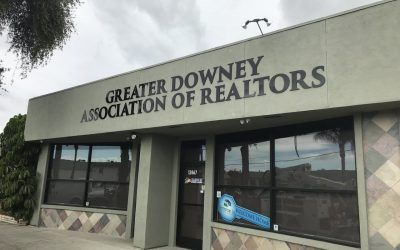 Acrylic Dimensional Letter Sign for Realtor Association in Downey, CA