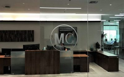 Etched and Cut Vinyl Logos for Financial Advisors in Calabasas, CA
