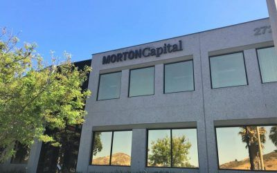 Building Sign for Morton Capital Management in Calabasas, CA