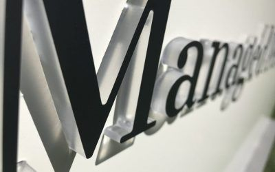 Push-Thru Letter Monument Sign Faces for Financial Planner in Calabasas, CA