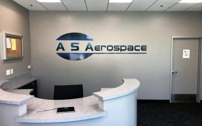 3D Letter Sign for AS Aerospace in Santa Clarita, CA