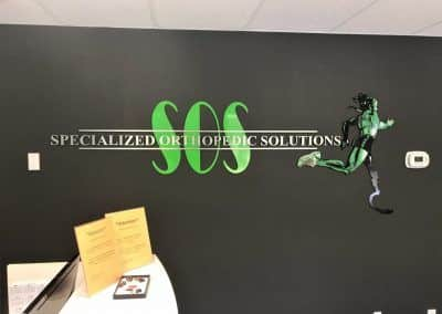 Medical Office Sign for Specialized Orthopedic Solutions in Chatsworth, CA