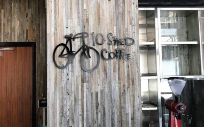 Metal Letter Sign for 10 Speed Coffee in Santa Monica, CA
