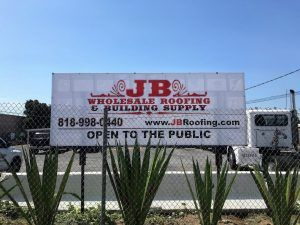 Custom Outdoor Sign For Jb Wholesale Roofing In Chatsworth Ca
