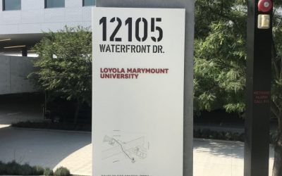 Monument Sign Update for Loyola Marymount University in Los Angeles, CA