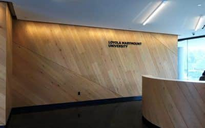 Reception Area Sign for Loyola Marymount University in Los Angeles, CA