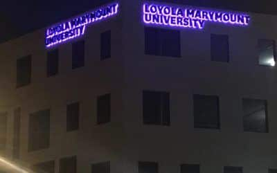 Color Changing Sign for Loyola Marymount University in Los Angeles, CA