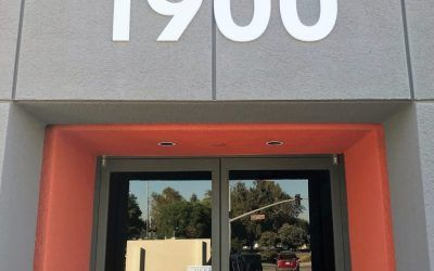 Exterior Dimensional Letters for Office Building in Simi Valley, CA