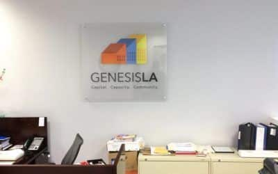 Custom Office Sign for Genesis LA in Los Angeles, CA