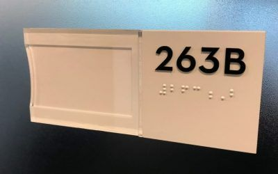 Braille ADA Signs for University in Los Angeles, CA