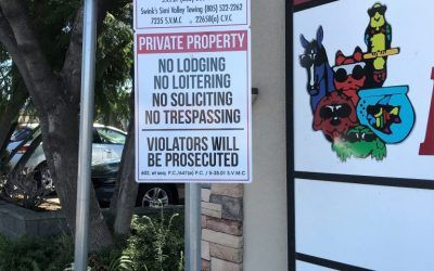 Parking Signs for SV Marketplace in Simi Valley, CA