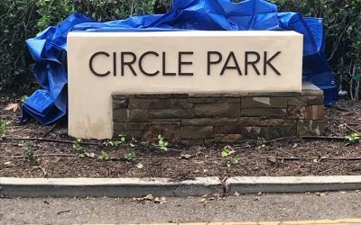 New Monument Sign Letters for Circle Park in Beverlywood, CA