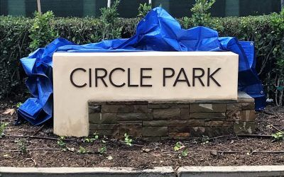 Custom Painted Metal Letters for Park in Beverlywood, CA
