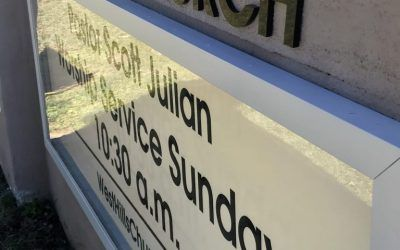 New Acrylic for Outdoor Church Sign in West Hills, CA