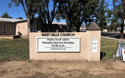 Monument Sign Refurbishment for West Hills Church in West Hills, CA