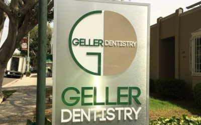 Double-sided Hanging Sign for Dentist in Los Angeles, CA
