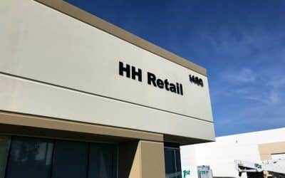Acrylic Letter Sign for Warehouse in Ontario, CA